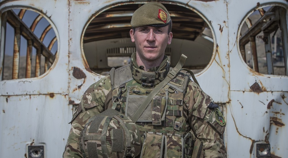 Captain Ainsworth, a British Army mentor at the ANAOA in Kabul.