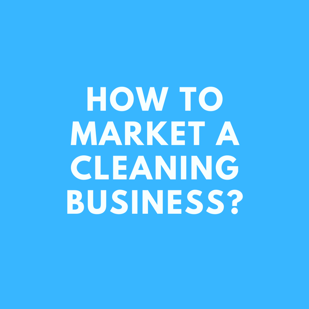 How to market a cleaning business. This is an insight to what I have done to achieve my success.