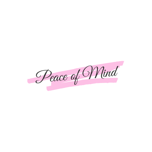 My logo, Peace of Mind, made with canva