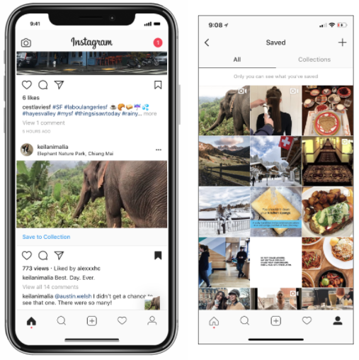 Travel With Instagram — How an Extension of the 'Collections