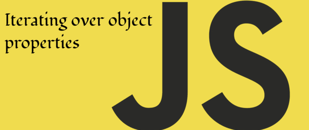 Iterate Over Object Properties in Javascript