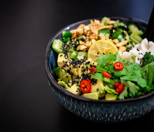 Picture of fresh salad—common keto myths