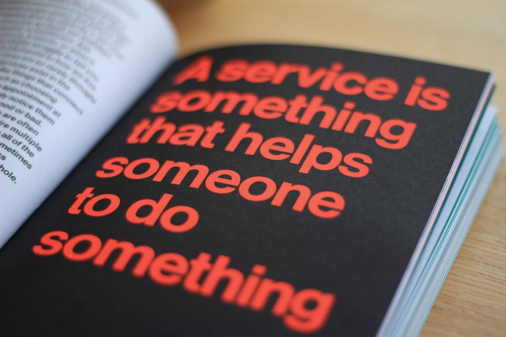Picture of a page from the book Good Services: A good service is something that helps someone to do something.