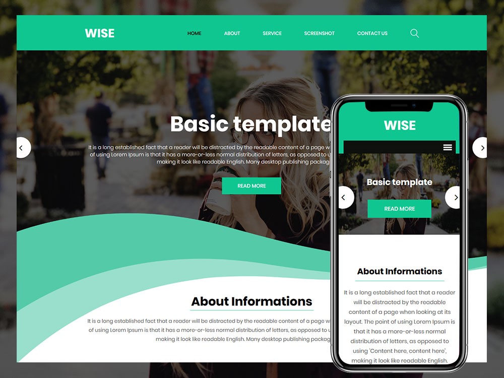 Wise Free Basic Html Template Wise Free Basic Html Template Is By Html Design Free Html Template Medium