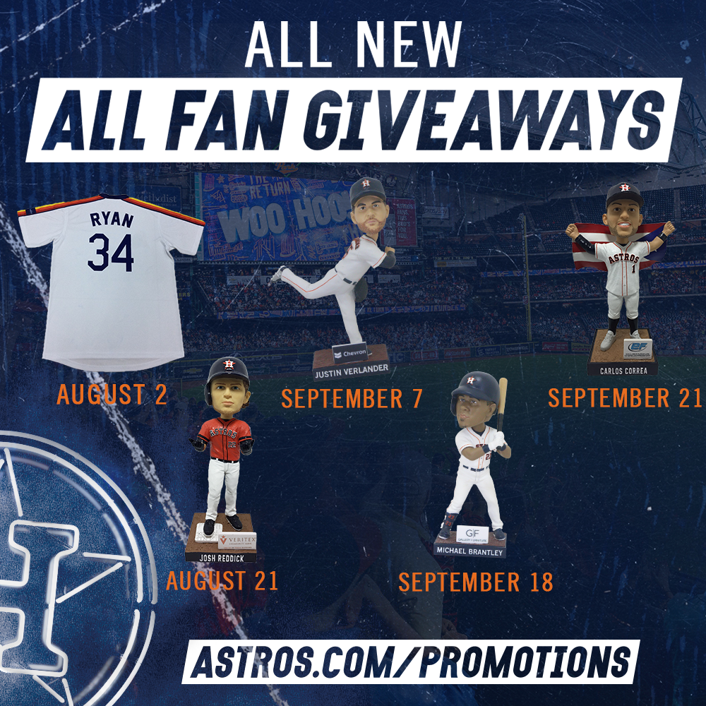 """free shipping 87181 175e3 Astros announce six remaining gate giveaways now deemed """"all ..."""