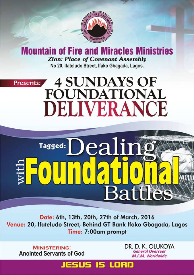 Prayer Points: 4 Sundays of Dealing with Foundation Battle