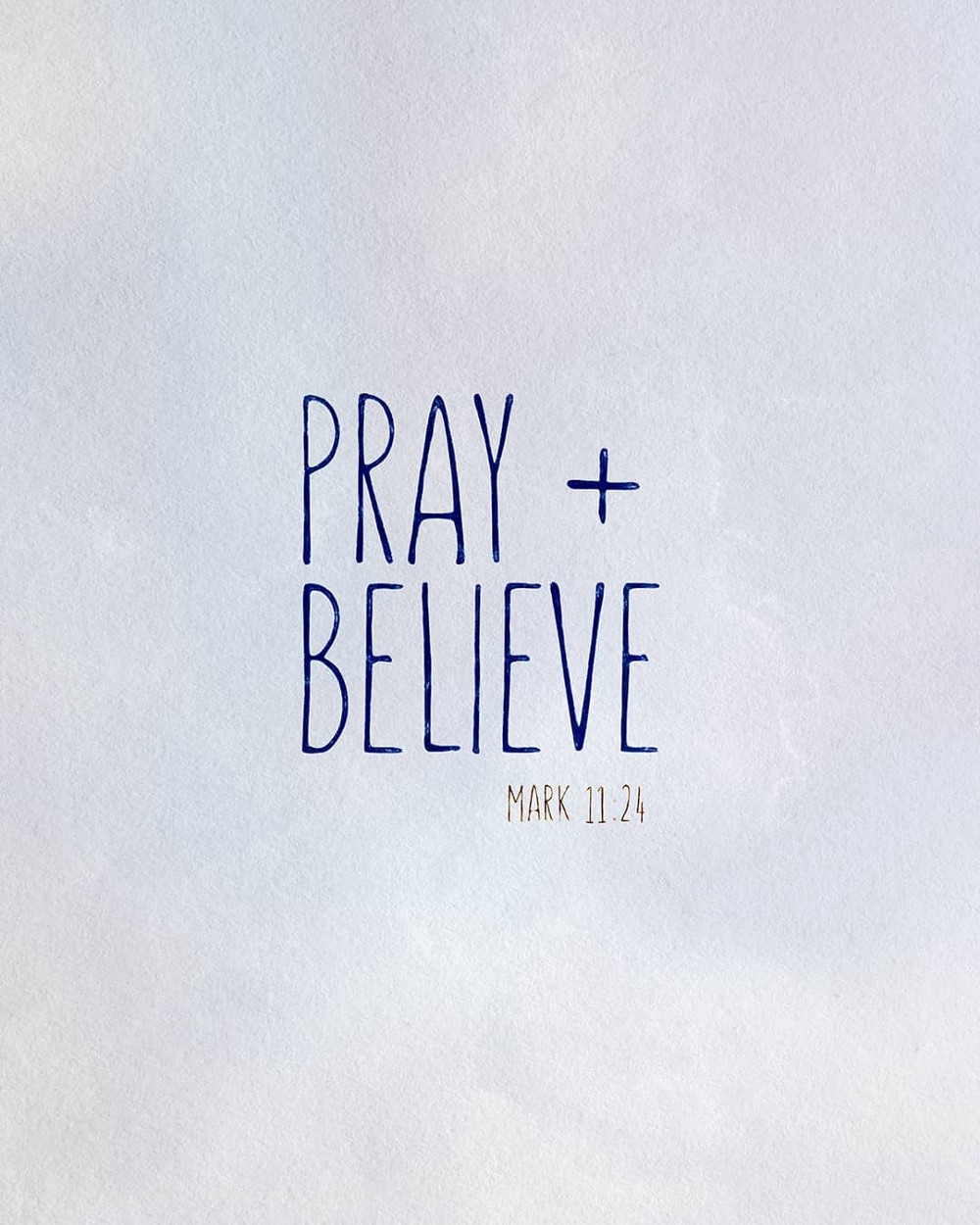 Pray + Believe | Small Voice Today