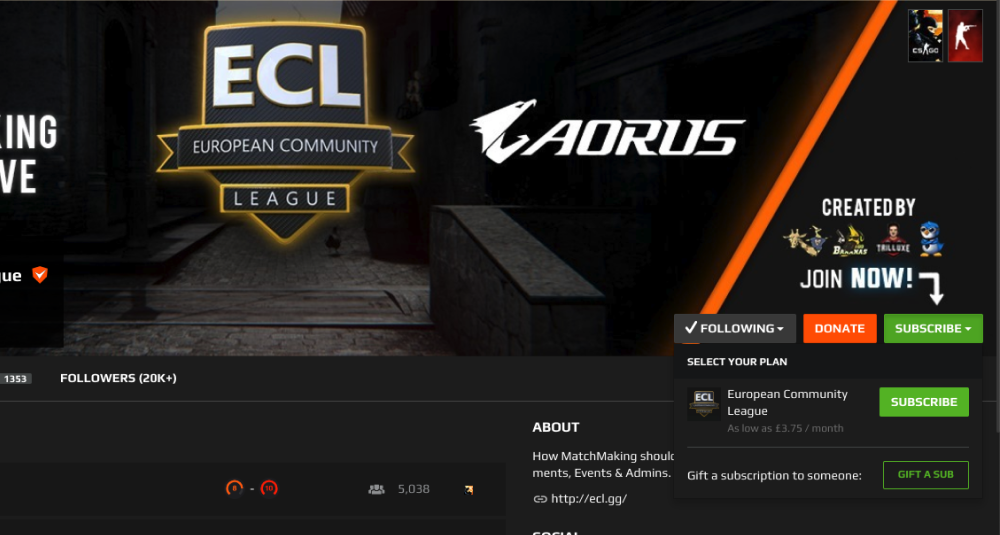Gifting Subscriptions & Chat Reactions - FACEIT