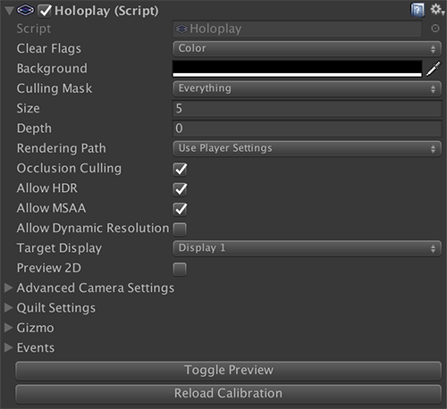HoloPlay Unity SDK 1 0 0 - Through the Looking Glass