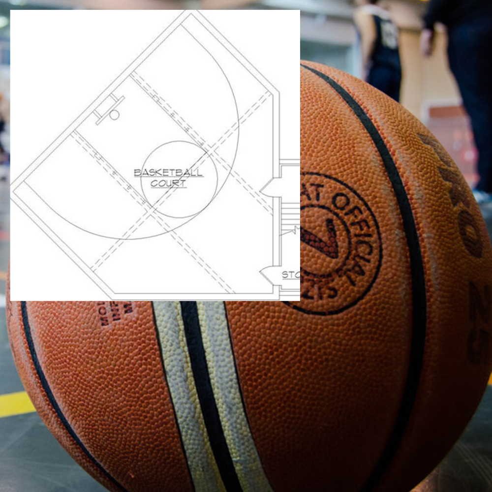 How To Build An Indoor Basketball Court In Your Own Home By The Plan Collection Medium