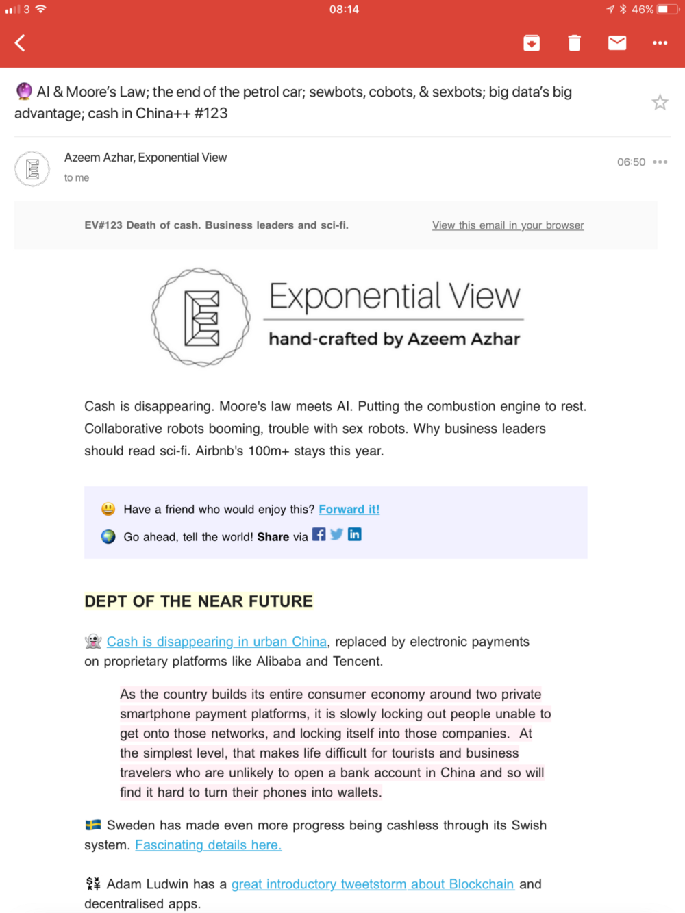 Essential reading: my top three email newsletters - Andrew Besford