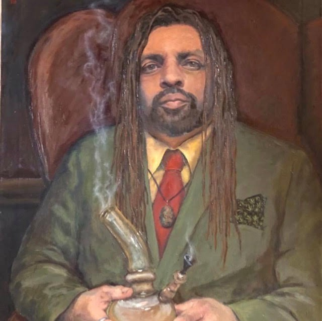 Long-Time Marijuana Legalization Activist Ed Forchion, known as the NJ Weedman, posing with a bong.