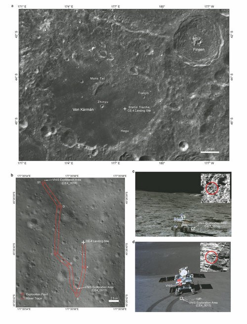 China's Lunar Exploration Project shows images of lunar terrain and planned vehicles for lunar exploration.