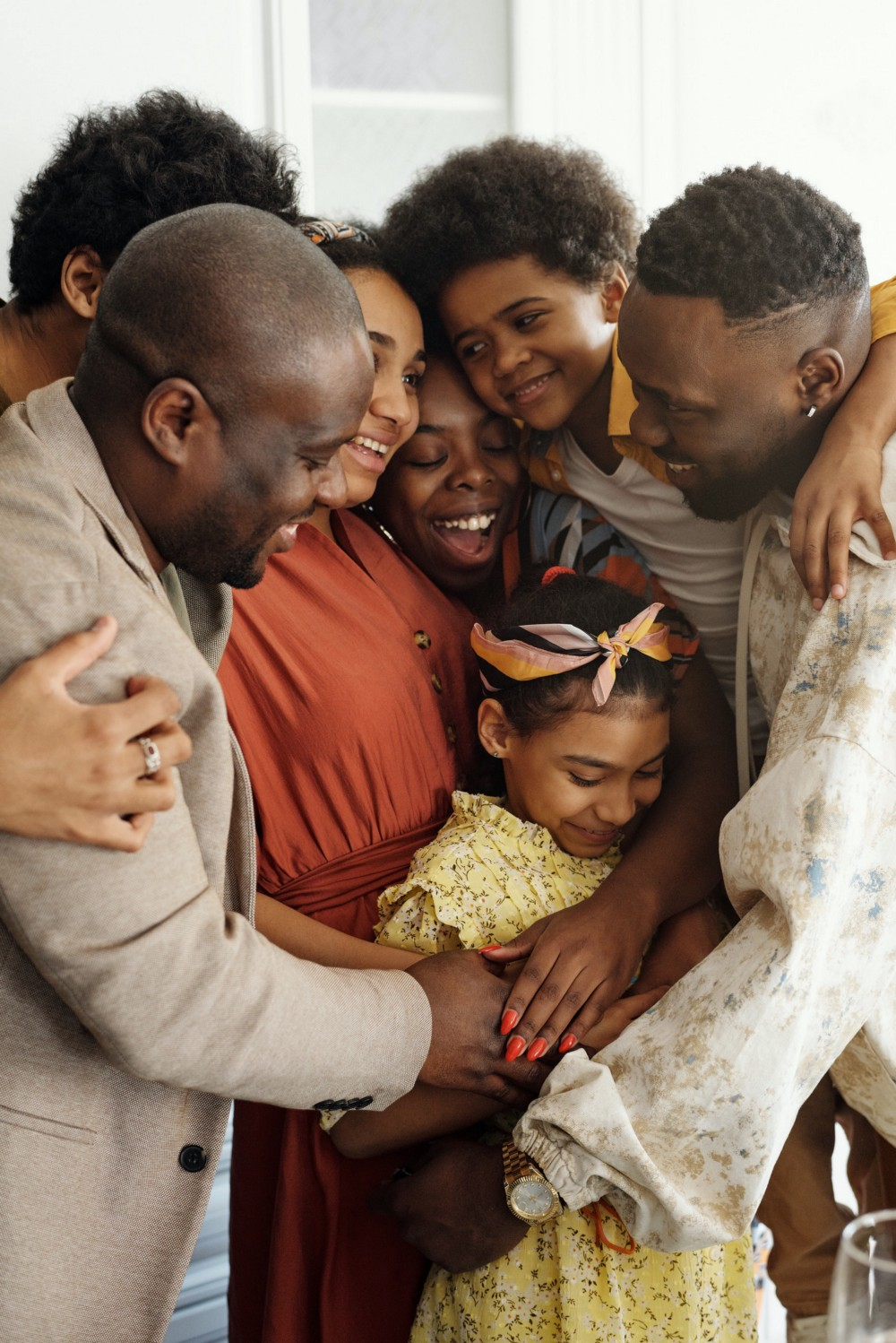 A happy Black family of all ages