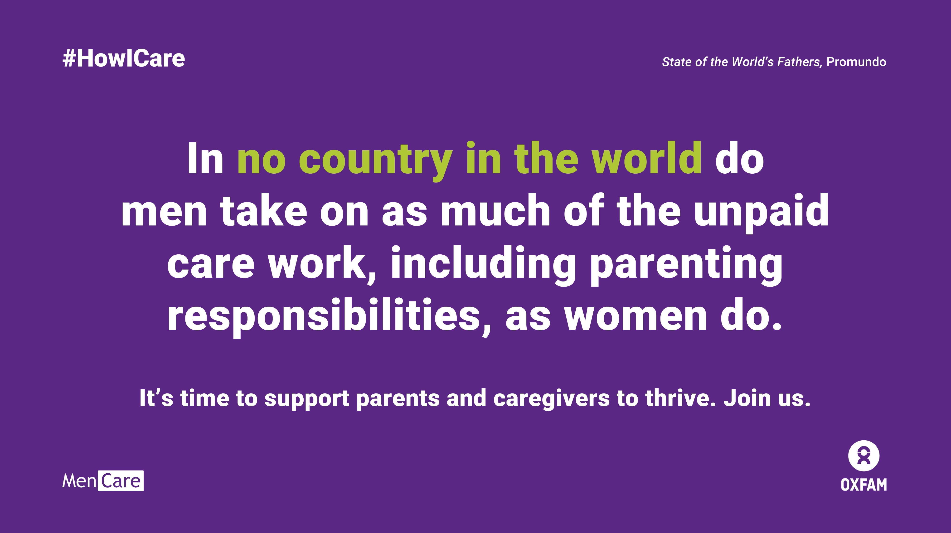 Graphic: In no country do women take on as much unpaid care work as women.
