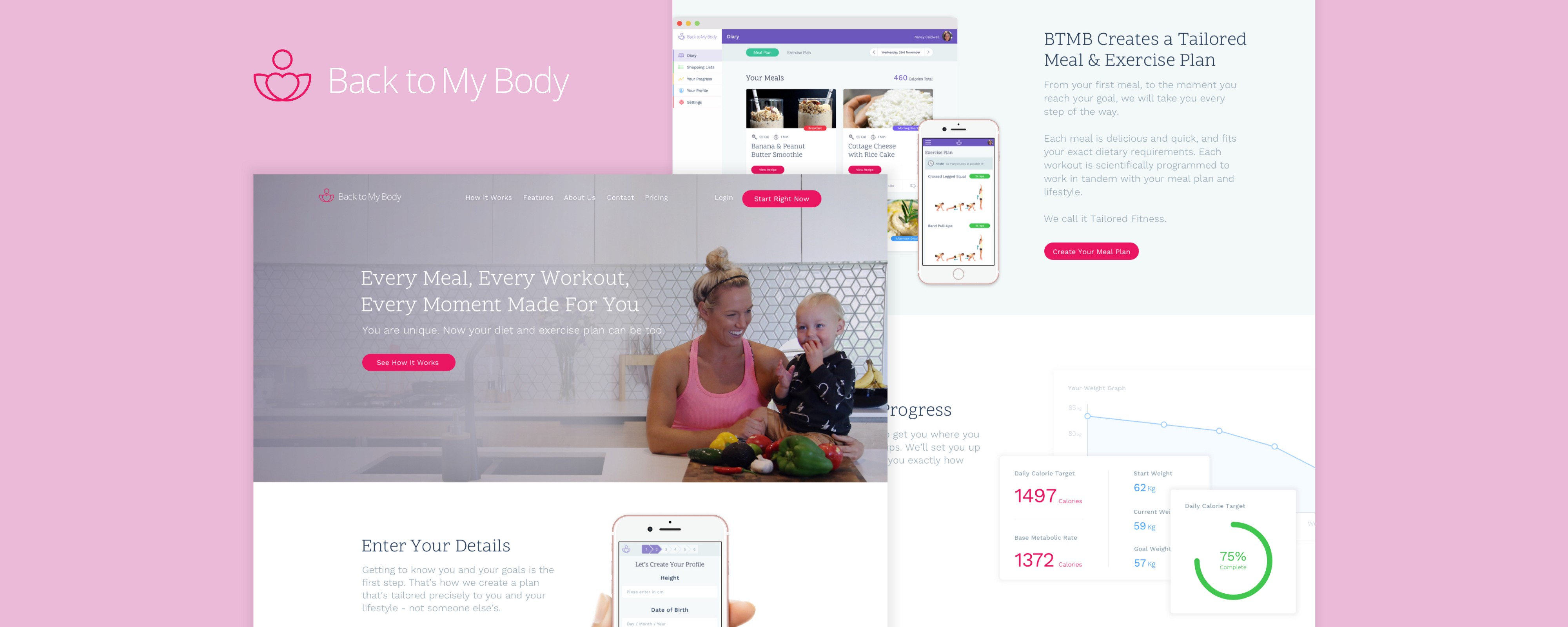 Back To My Body Case Study Back To My Body Diet And Exercise By Alyoop Muzli Design Inspiration