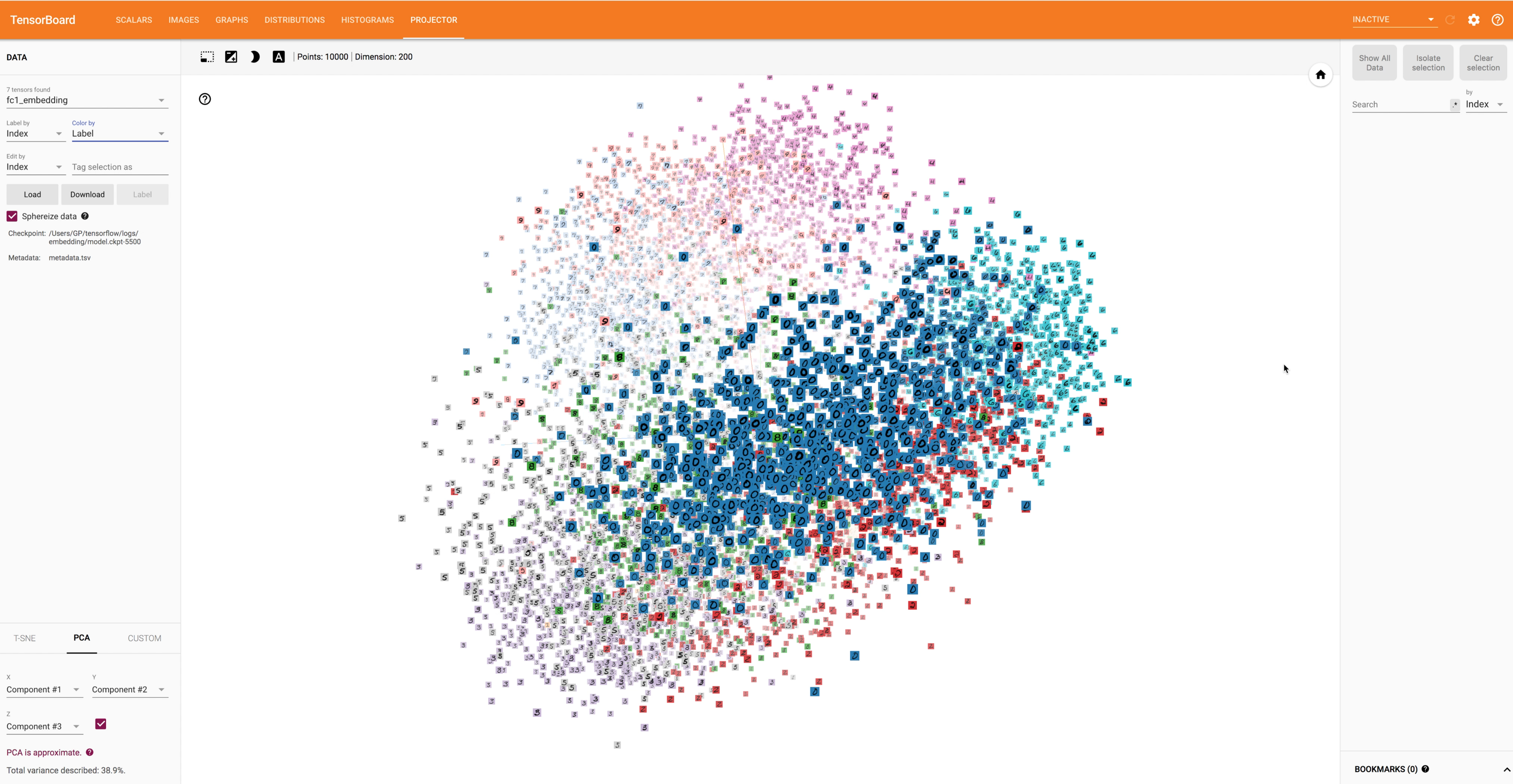 Building a Neural Net to Visualize High-Dimensional Data in