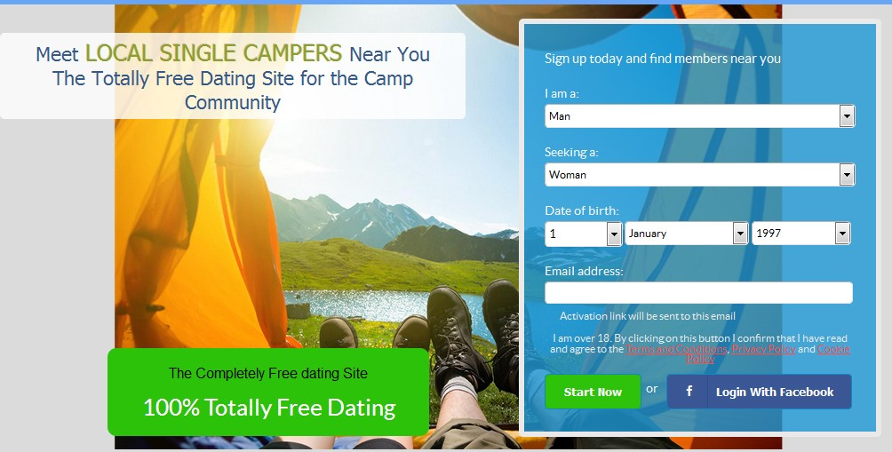 Camping dating site