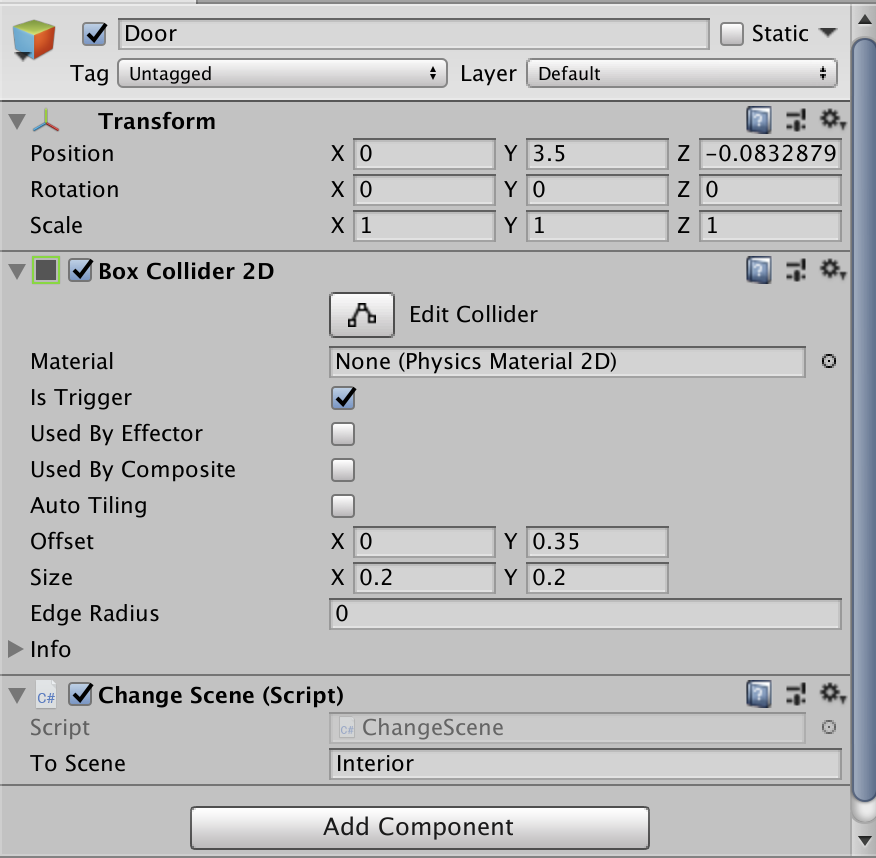 How to Position the Player based on Previous Scenes in Unity
