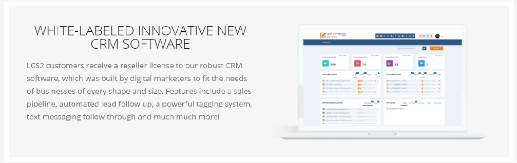 Lead Conversion Squared (LCS2): WHITE-LABELED INNOVATIVE NEW CRM SOFTWARE(You'll receive a Resellers Licence)