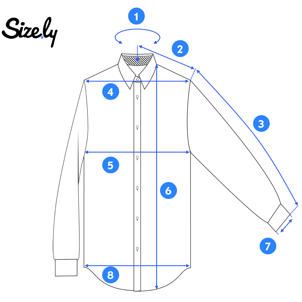 How To Measure A Dress Shirt?. First Things First  by Sizely  Medium