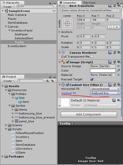 Create an Unity inventory: part 6 Generate tooltip - Yone Moreno