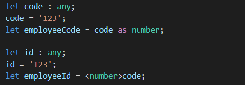 Type assertion similar to type casting in other languages like C# and Java