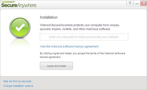 Activation and Installation Webroot SecureAnywhere with Keycode