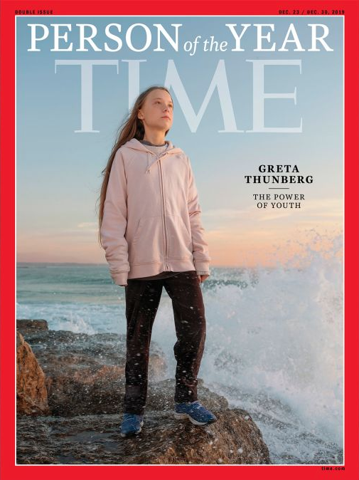 Greta Thunberg in the cover of Time Magazine