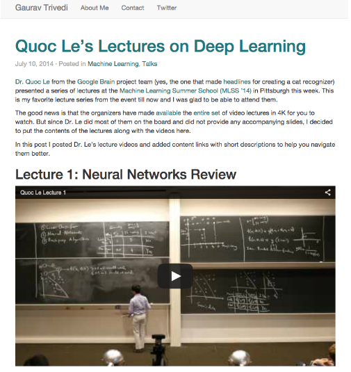 Learning About Deep Learning! - Gab41