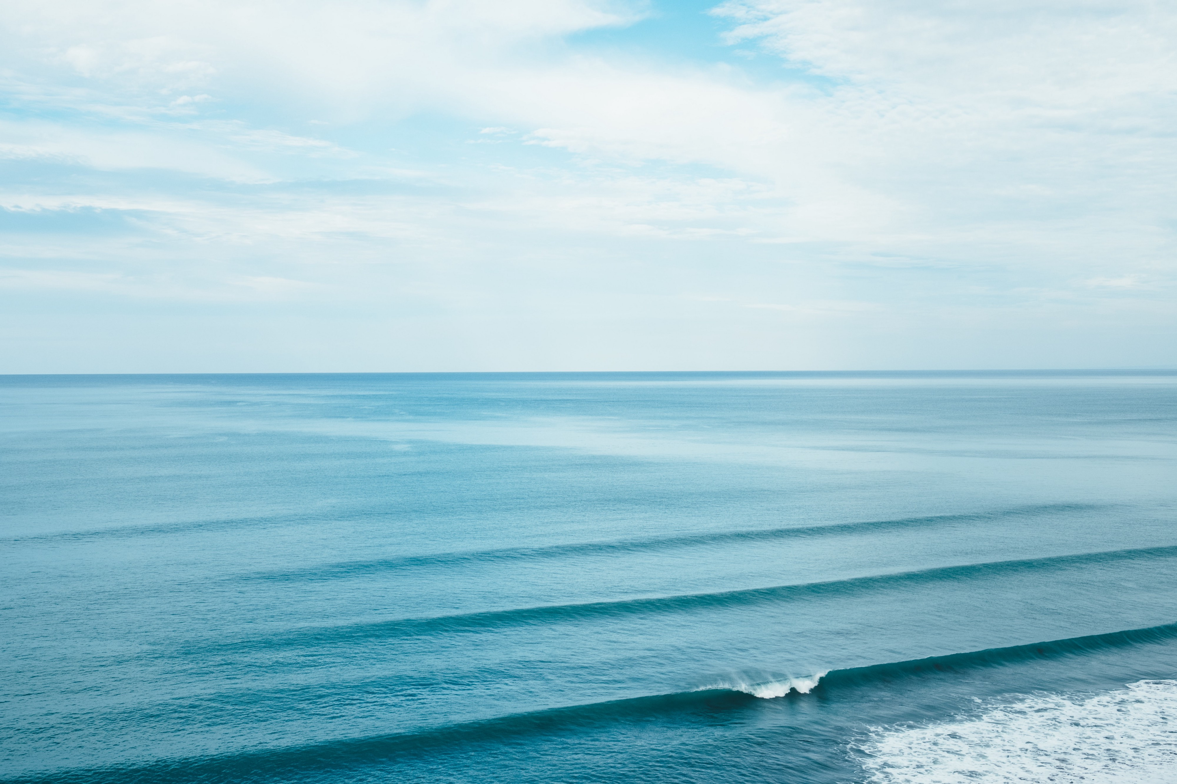 Ocean with calm waves