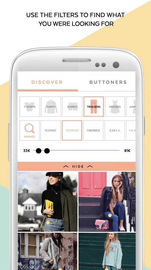 21 Buttons: The App For Exploring The Latest Fashion Trends