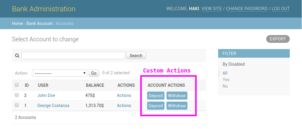 How to Add Custom Action Buttons to Django Admin - Haki