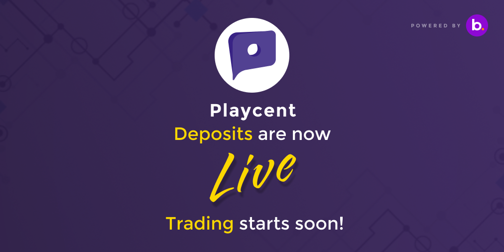 Playcent is getting listed on BitBns!