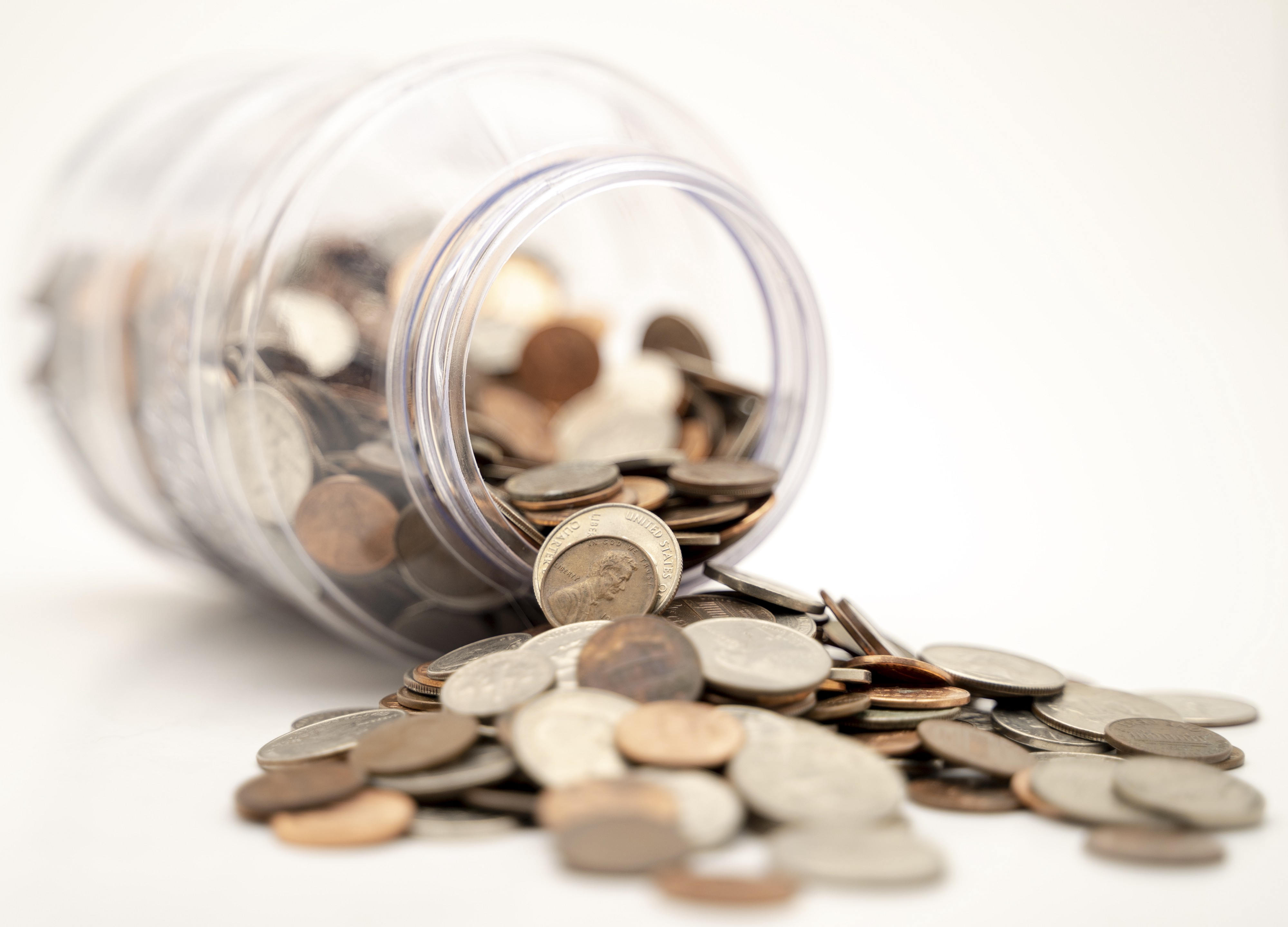Money Spilled From Can