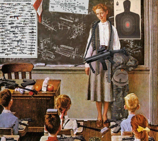 """I Refuse To Believe """"GIVE TEACHERS GUNS"""" Is Not Satire"""