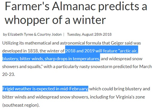 Winter Forecast 2018–2019 Northern Hemisphere - David DuByne - Medium