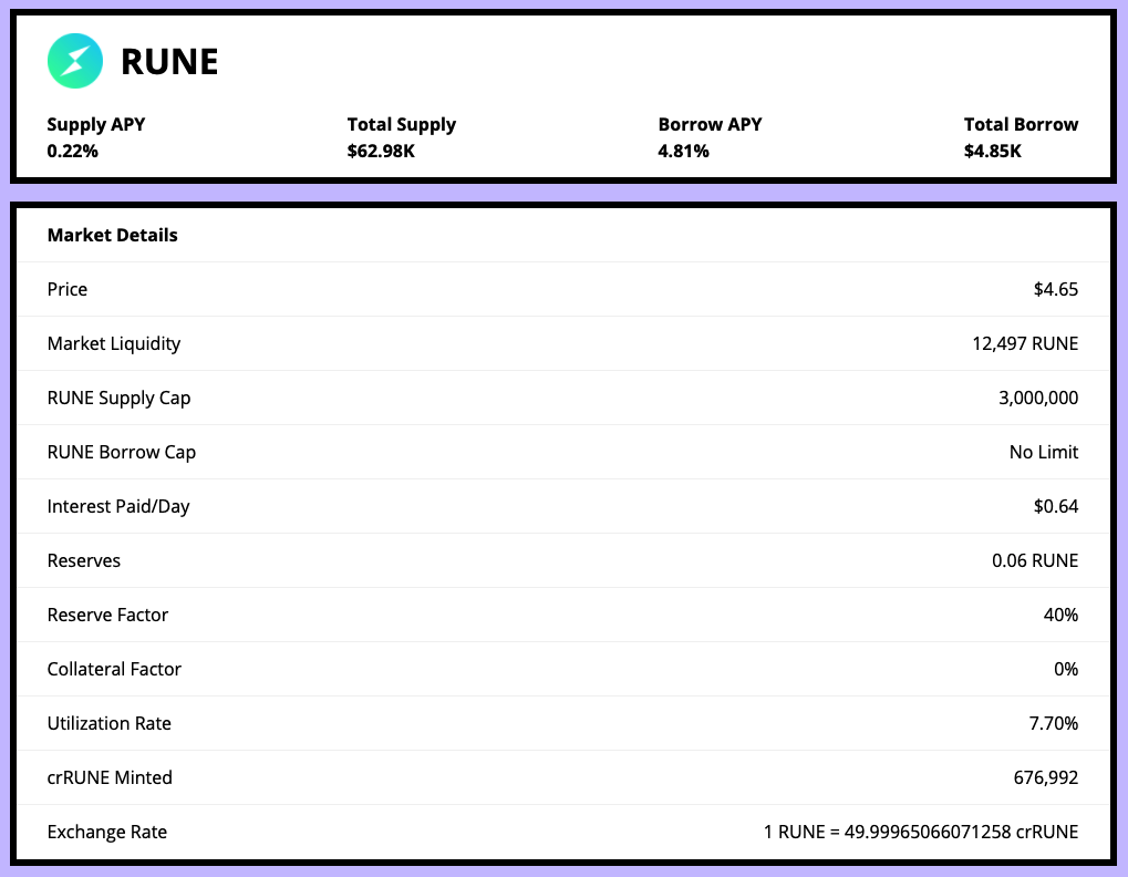 $RUNE $PERP Listed on C.R.E.A.M. Ethereum