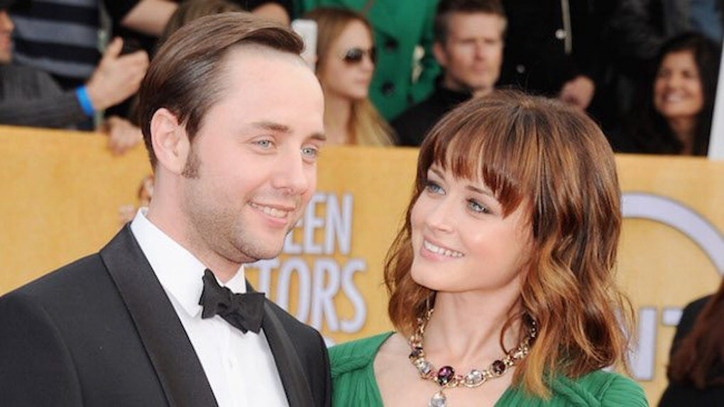A photo of Alexis Bledel and her now-husband Vincent Kartheiser