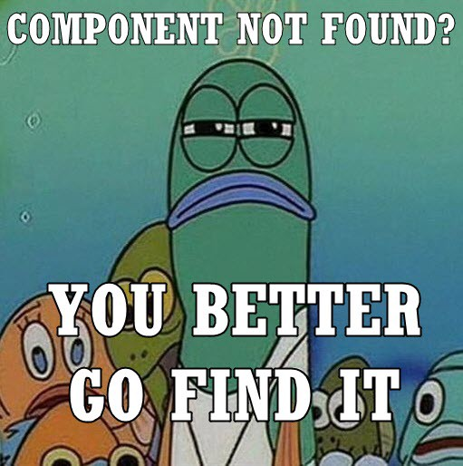 Here is why you will not find components inside Angular