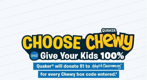 Quaker Choose Chewy Sweepstakes — Enter To Win $500 Credit Prize