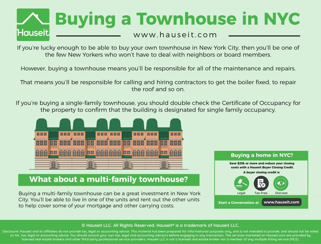 Benefits and Risks of Buying a Townhouse in NYC - Hauseit