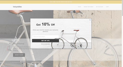 A brand using Shopify