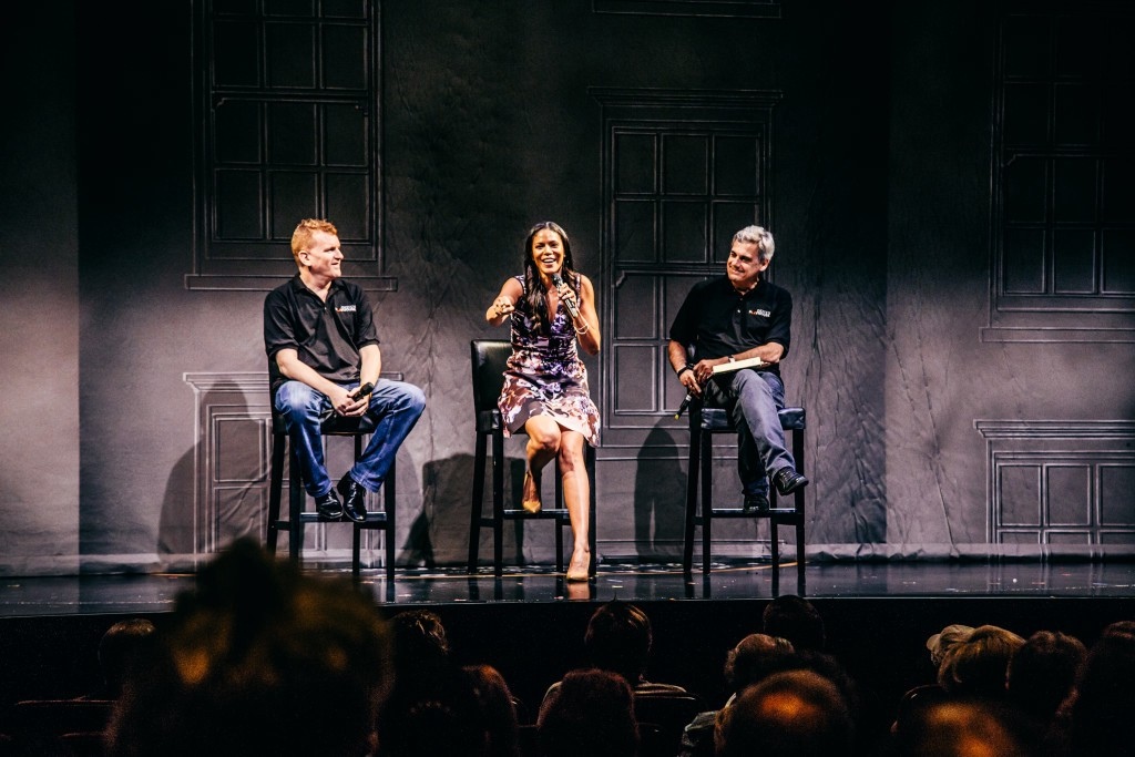 Gil Cates, Jr., Merle Dandridge and Randall Arney. Photo by Jeff Lorch.