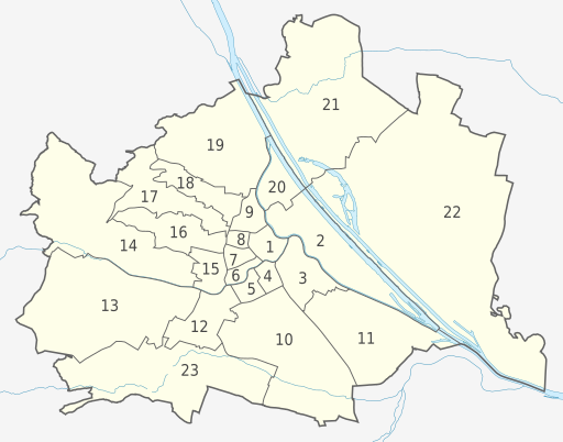 Vienna, administrative divisions—Numbers (source: wikimedia.org)