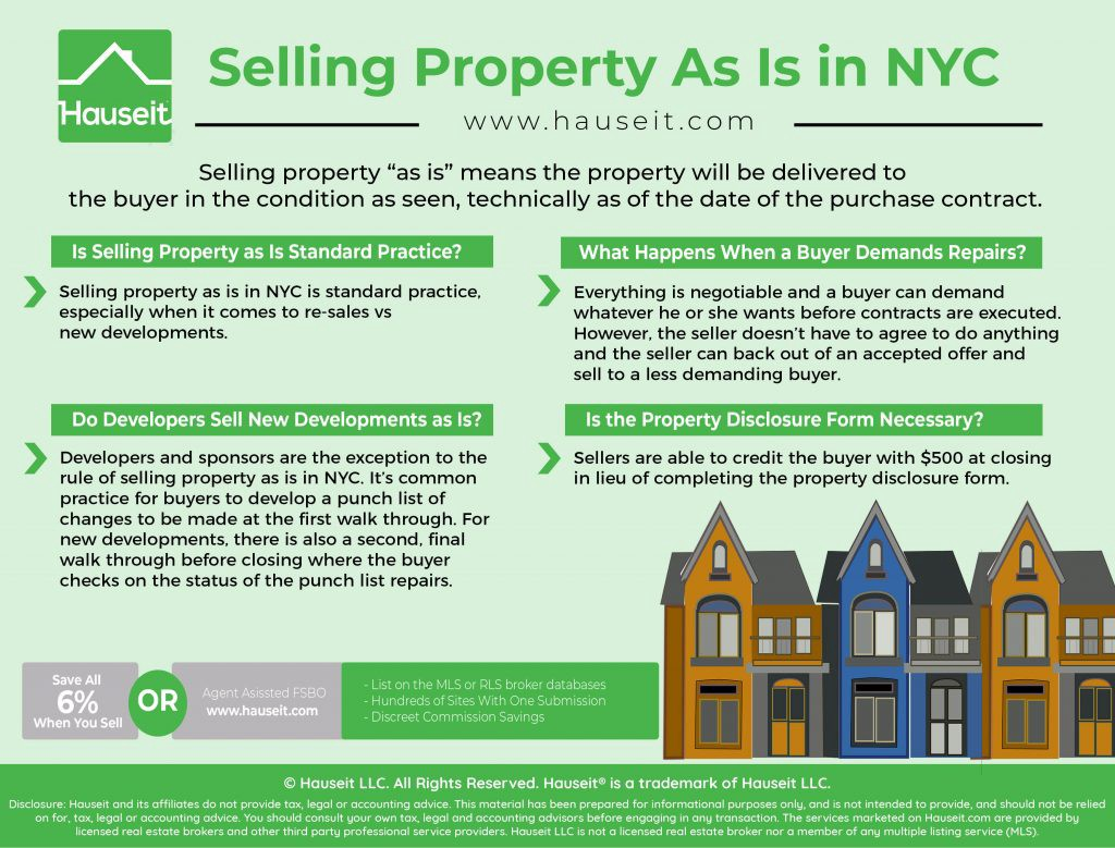 Tips on How to Sell Property As Is in NYC - Hauseit - Medium