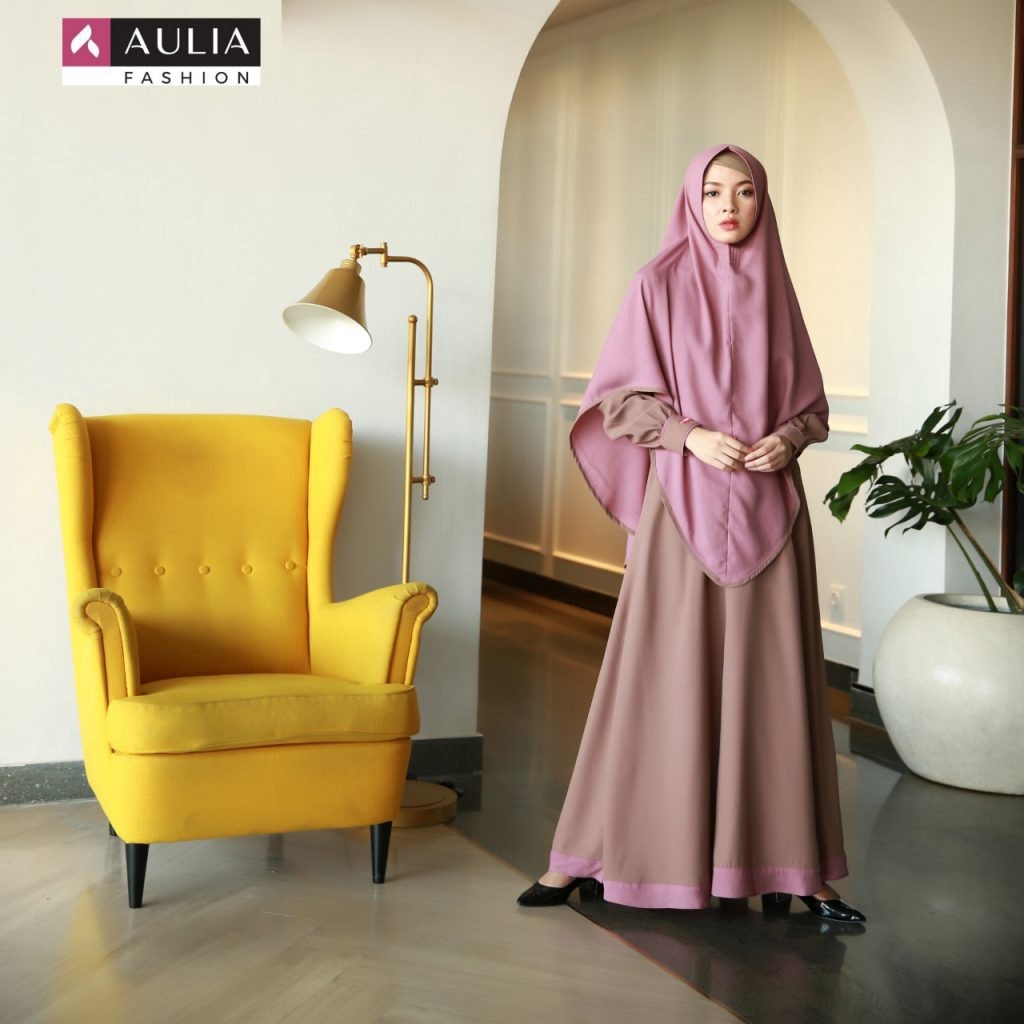 Model Gamis Simple Tapi Mewah Paling Update by AULIA FASHION  by