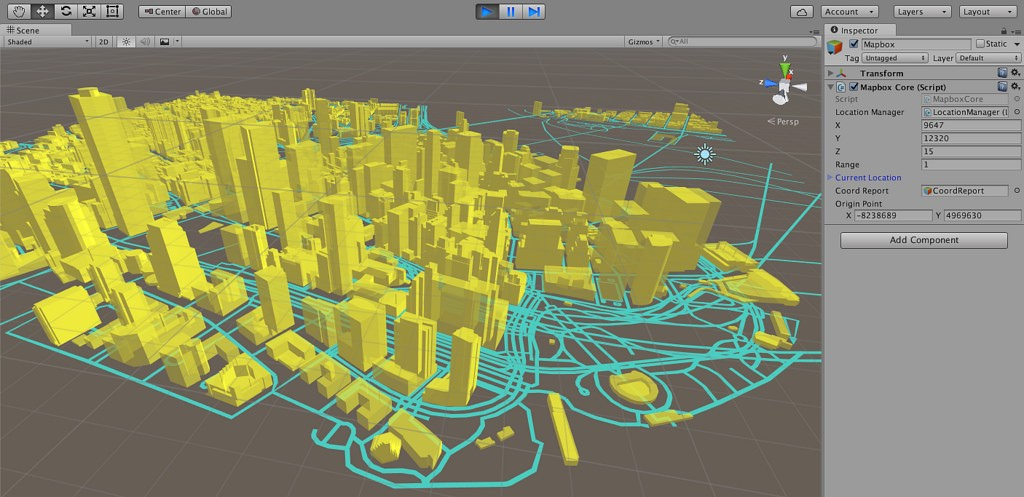 Announcing the Mapbox Unity SDK - Points of interest