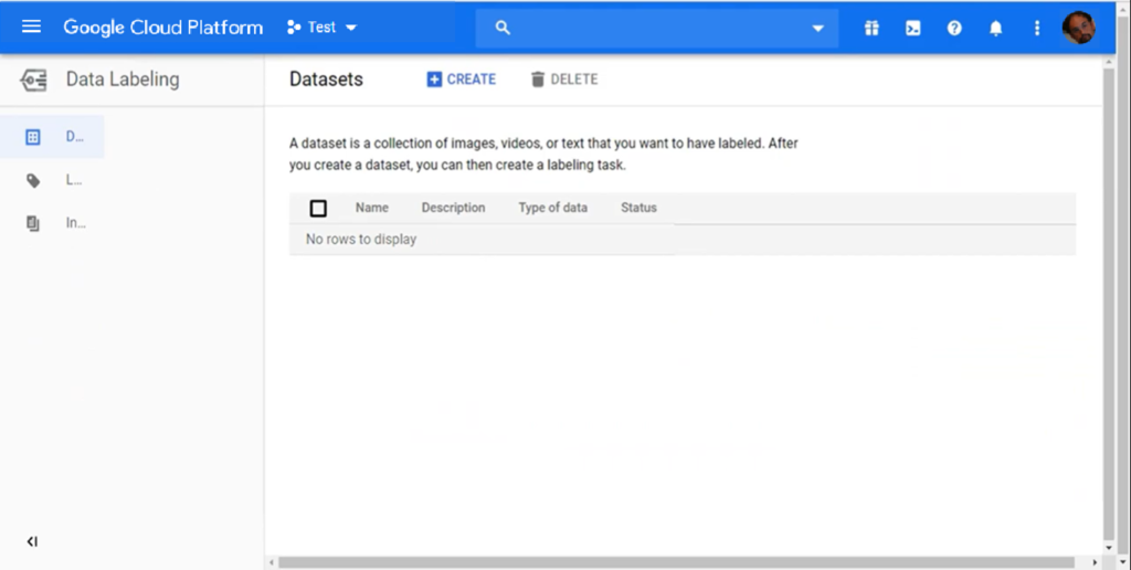Datasets on Google Cloud Platform