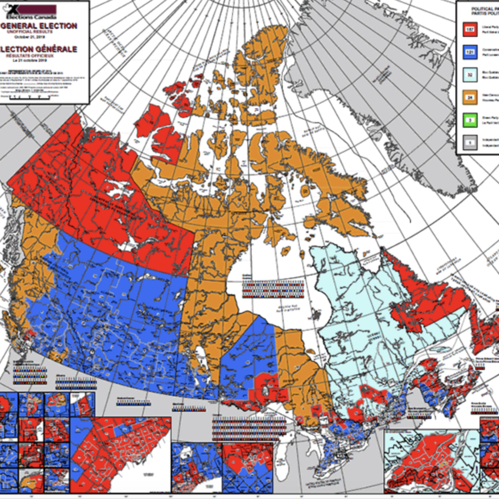Electoral Map Of Canada Elections Canada Canada's Post Election Divide. Canadians are conflicted between